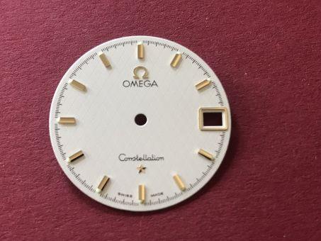 Omega Constellation Zifferblatt mit goldfarbenen Indikationen, Durchmesser: 25,50mm
