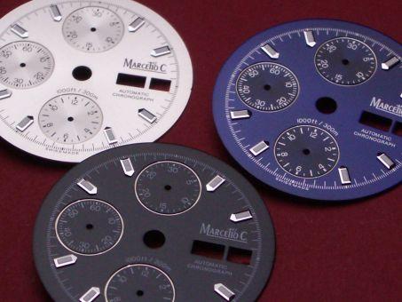 Marcello C. Nettuno Chronograph 2017 Zifferblatt
