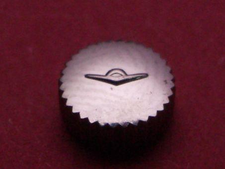 Movado Krone Stahl, Ø 6,0mm Höhe 2,9mm, Gewinde 1,2mm, Tubus 2,6mm