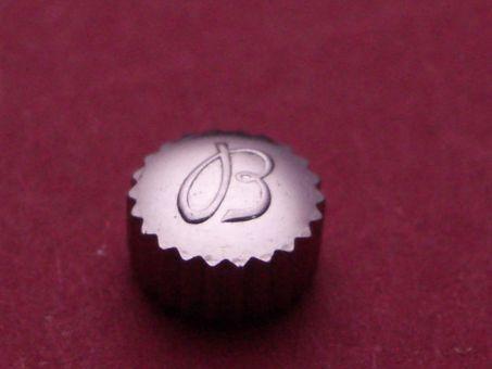 Breitling Krone Stahl Ø 5,85mm, Höhe 3,4mm, Gewinde 1,2mm, Tubus 2,5mm