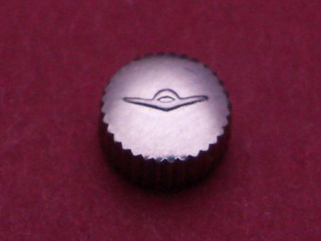 Movado Krone Stahl Ø 5mm, Höhe 2,75mm, Gewinde 0,9mm, Tubus 2mm