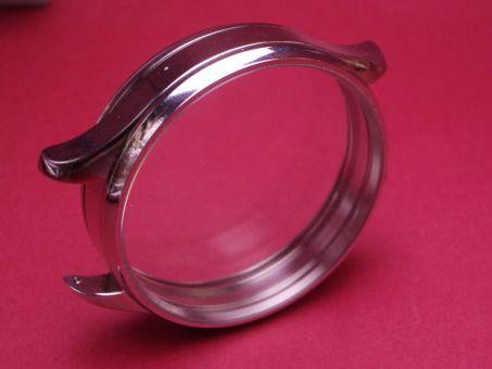 Glasboden-Edelstahl Gehäuse für Taschenuhrwerke