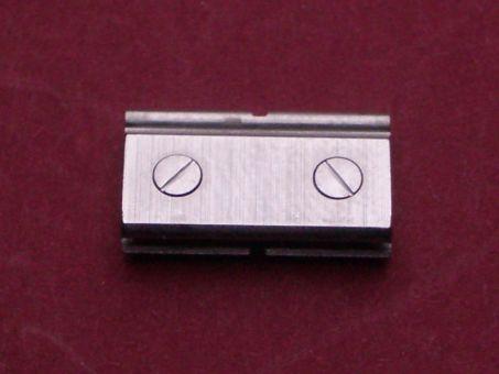 Cartier Santos Armband-Glied Link Ersatzglied 13,54mm Stahl mit 2 Stahlschrauben altes Model, eingeschoben