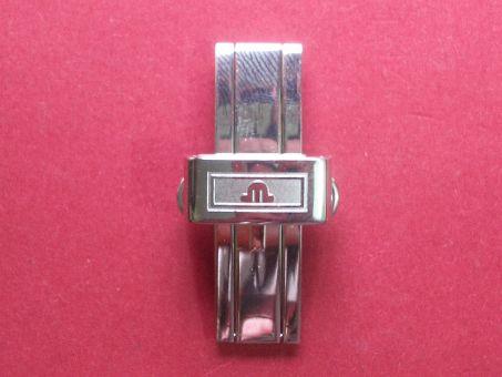 Maurice Lacroix Armband- Schließe, Stahl/Stahl, Faltschließe, 16mm