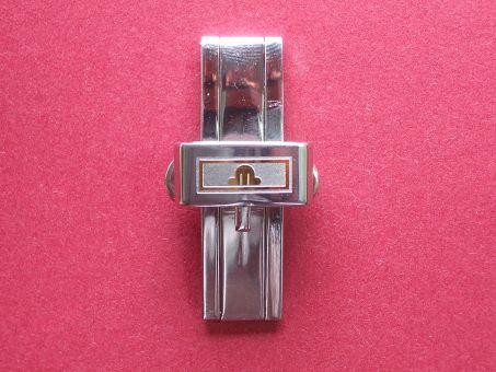 Maurice Lacroix Armband- Schließe, Stahl/Gold, Faltschließe, 16mm