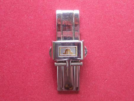 Maurice Lacroix Armband- Schließe, Stahl/Gold, Faltschließe, 12mm