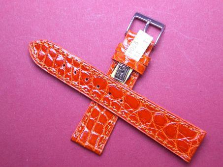 Louisiana Krokodil-Leder-Armband 18mm im Verlauf auf 16mm Farbe: orange