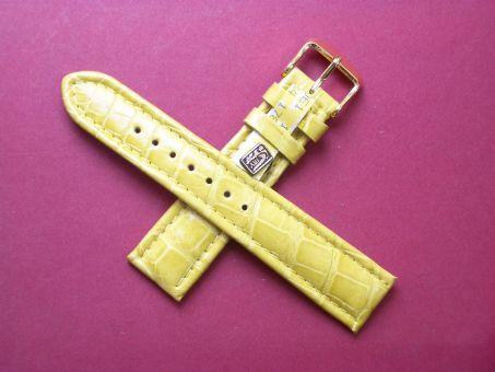 Louisiana Krokodil-Leder-Armband, 20mm im Verlauf auf 18mm Farbe: Gelb
