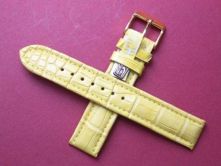 Louisiana Krokodil-Leder-Armband, 18mm Farbe: Gelb