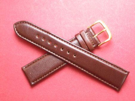 Leder-Armband Graf 20mm im Verlauf auf 18mm,  Farbe: dunkel Braun