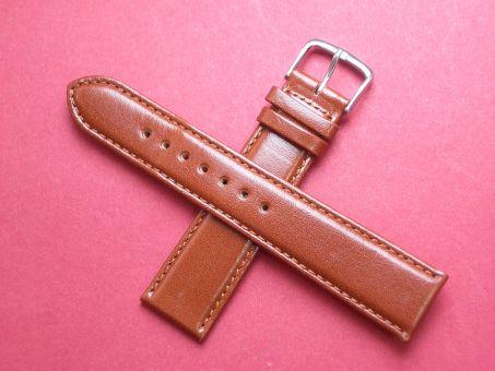 Leder-Armband Graf 20mm im Verlauf auf 18mm,  Farbe: Braun