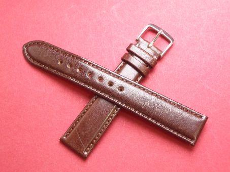 Leder-Armband Graf 18mm im Verlauf auf 16mm,  Farbe: dunkel Braun