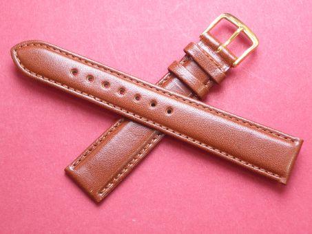 Leder-Armband Graf 18mm im Verlauf auf 16mm,  Farbe: Braun