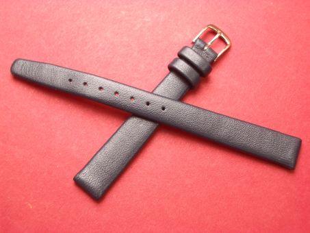 Leder-Armband Graf, Seidenkalb  12mm im Verlauf auf 10mm,  Farbe: Blau
