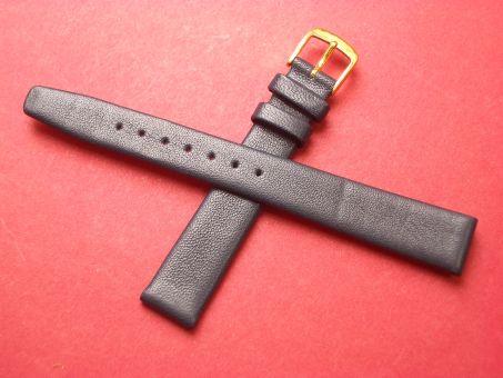 Leder-Armband Graf, Seidenkalb  14mm im Verlauf auf 12mm,  Farbe: Blau