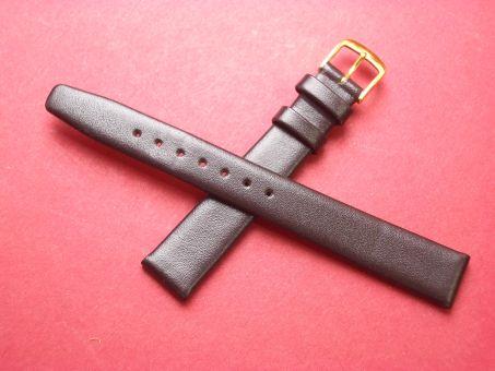 Leder-Armband Graf, Seidenkalb  14mm im Verlauf auf 12mm,  Farbe: Braun