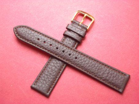 Leder-Armband Derdy 18mm im Verlauf auf 16mm,  Farbe: Braun