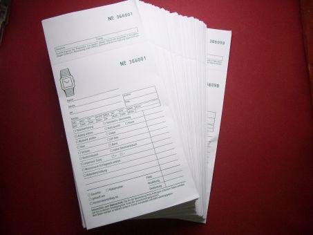 100 Reparaturtüten aus Papier mit fortlaufendem Nummmerkreis