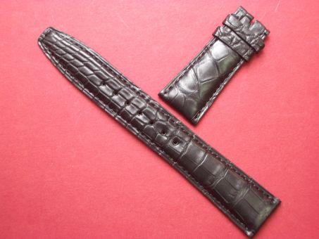 IWC Leder-Armband 22mm im Verlauf auf 18mm, Farbe: Schwarz