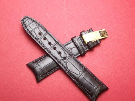 Baume & Mercier Aligator-Leder-Armband 21mm im Verlauf auf 18mm Farbe: Schwarz