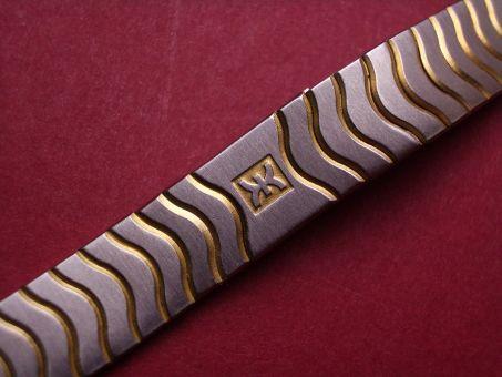 Ebel Stahl/Gold Damen Metall-Armband mit verdeckter Schließe, Länge: 152mm, Breite: 12,9mm am Gehäuse 9,8mm an der Schließe