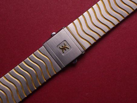 Ebel Stahl/Gold Metall-Armband , Länge: 166mm, Breite: 17,0mm am Gehäuse 15mm an der Schließe