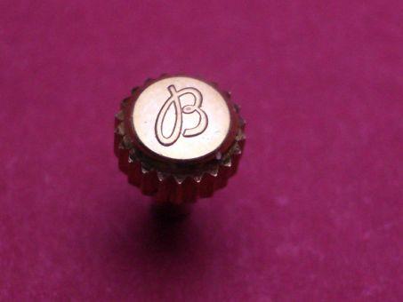 Breitling Krone, wasserdicht gelbgold doublé , Ø 5,0mm, Höhe 2,82mm / 6,55mm,