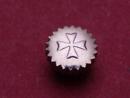 Vacheron Constantin Stahl Krone staubgeschützt, Ø 3,97mm, Höhe 1,4mm / 2,45mm, Gewinde 0,9mm