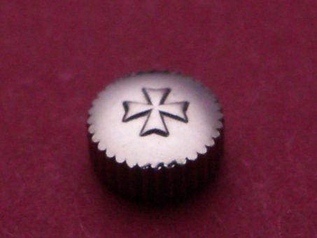 Vacheron Constantin Stahl Krone wasserdicht, Ø 5,0mm, Höhe 2,5mm, Gewinde 0,9mm, Tubus 2,0mm
