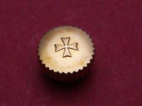 Vacheron Constantin Gold Krone, Ø 5,46mm, Höhe 2,4mm / 3,4mm, Gewinde 1,2mm, Tubus 2,25mm