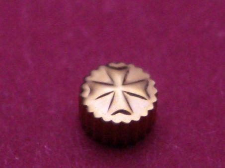 Vacheron Constantin Gold Krone wasserdicht, Ø 2,93mm, Höhe 1,85mm, Gewinde 0,9mm, Tubus 1,5mm