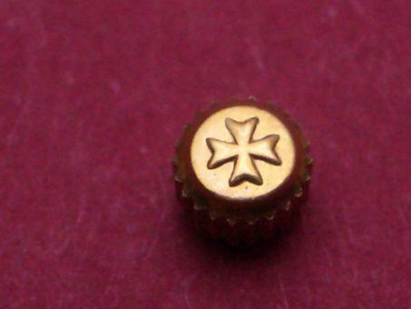 Vacheron Constantin Gold Krone, Ø 2,95mm, Höhe 1,745mm / 2,32mm, Gewinde 0,9mm, Tubus 1,8mm