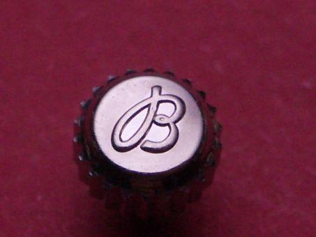 Breitling Krone verschraubt, wasserdicht Stahl Ø 5,0mm, Höhe 3,0mm / 6,45mm, Gewinde 0,9mm