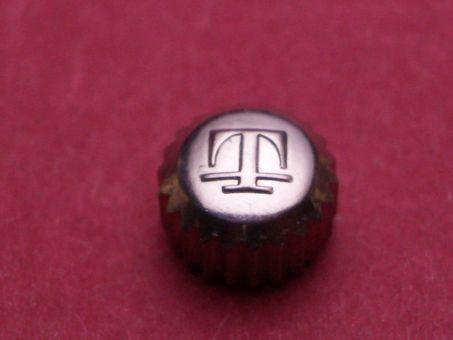 Tissot Krone Stahl Ø 6,25mm, Höhe 4,12mm, Tubus 2,5mm, Gewinde 1,0mm