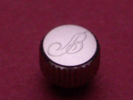 Breitling Krone, Stahl , Ø 5,95mm, Höhe 5,13mm / 3,95mm, Gewinde 0,9mm, Tubus 2,5mm