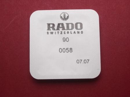 Rado Wasserdichtigkeitsset 0058 für Gehäusenummer 963.0480.3 & 963.0547.3 & 963.0642.3