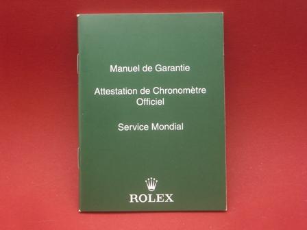 Rolex Garantie-Übersetzung in 16 Sprachen als Zubehör